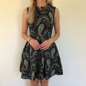 Cynthia Rowley Paisley Fit and Flare Prom Dress 0